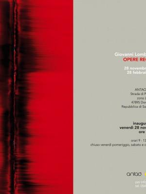 Giovanni Lombardini, Opere recenti
